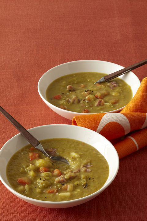לְהַאֵט Cooker Smoky Split Pea Soup