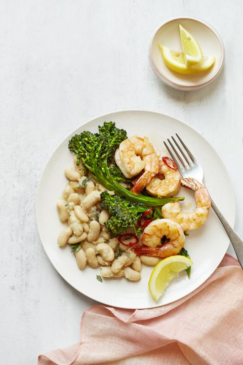 pečen Shrimp & White Beans