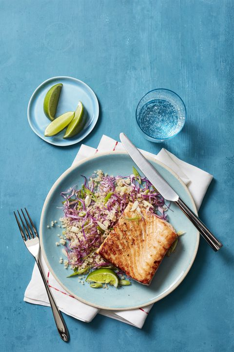 Med-Spiced Salmon with Quinoa Salad 30-Minute Meal