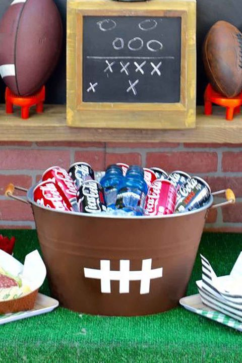 diy super bowl beverage tub