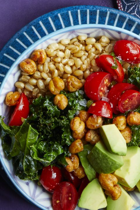 פריך chickpea and kale bowl