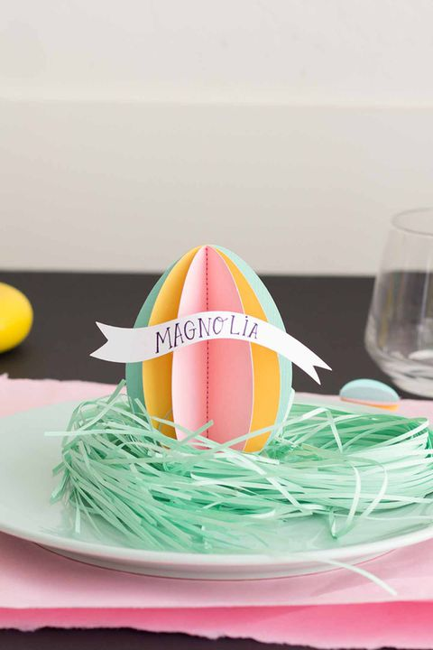 3 डी easter egg name tags