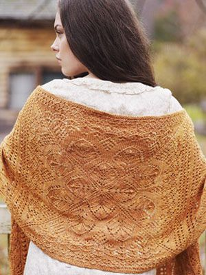 तिब्बती shawl from The Knitter's Book of Wool