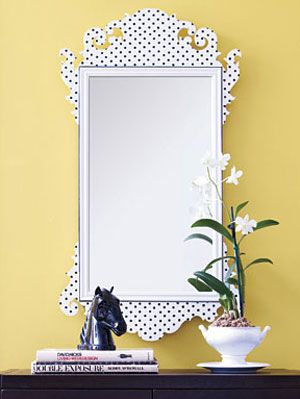 क्या's Old Is New Again: Wallpaper-Covered Mirror