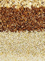 חום rice and whole grains like barley, quinoa and couscous