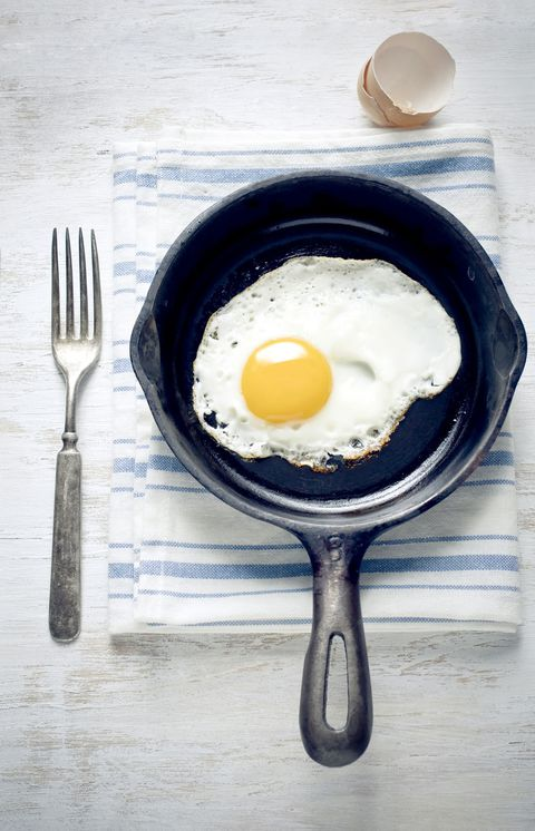 jaje yolk in a cast iron