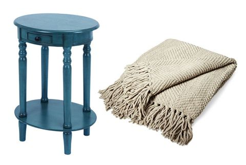 वुडलैंड end table and lands end chenille throw