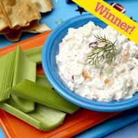 תוֹסֶפֶת point shrimp and cucumber dip
