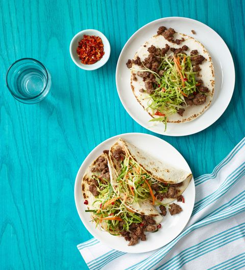 קוריאנית Tacos with Asian Slaw