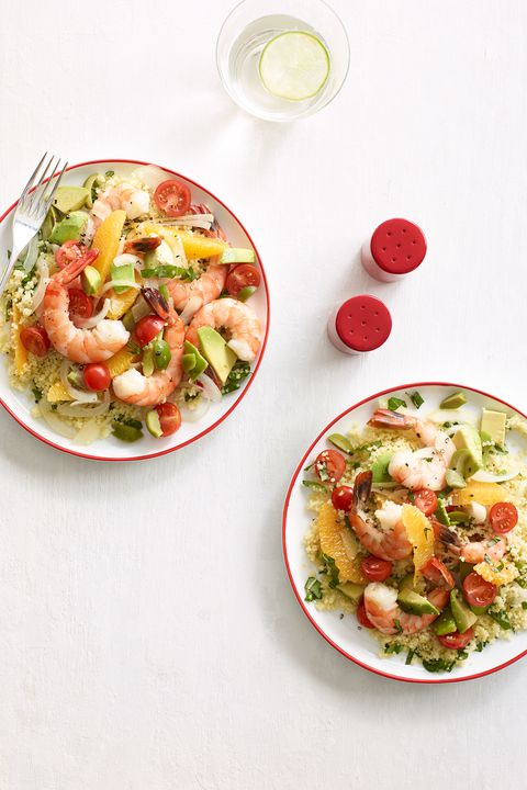 אבוקדו shrimp salad couscous