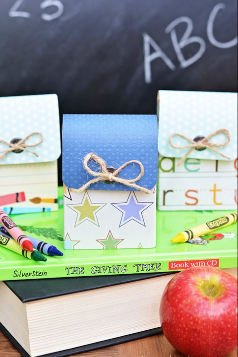 leđa to school activity mini paper backpack crayon boxes