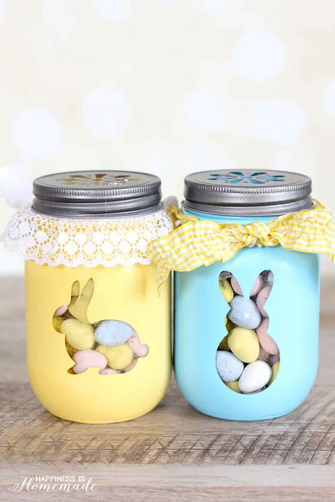 Πάσχα bunny treat jars