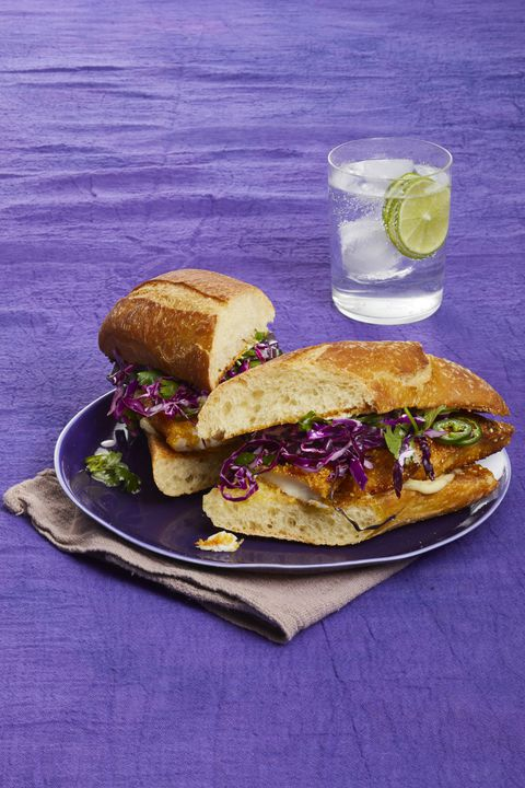 Hrskavo Fish Sandwiches with Honey-Lime Slaw 30-Minute Meal