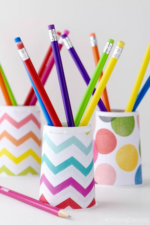 leđa to school activity paper cup pencil holder with colorful pencils