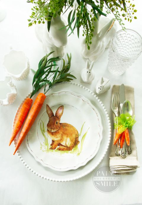 חג הפסחא carrot napkin rings