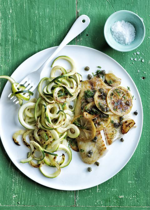 Spržen Tilapia with Spiralized Zucchini 30-Minute Meal