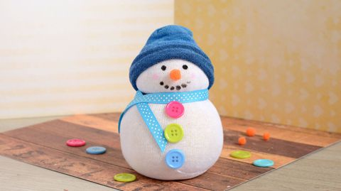 Ne KOD Sock Snowman Craft