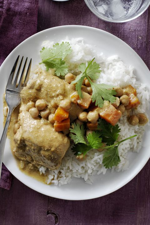 קוקוס curry chicken and chickpeas