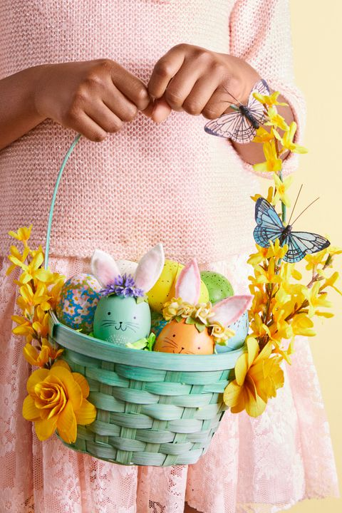 diy easter baskets flowers
