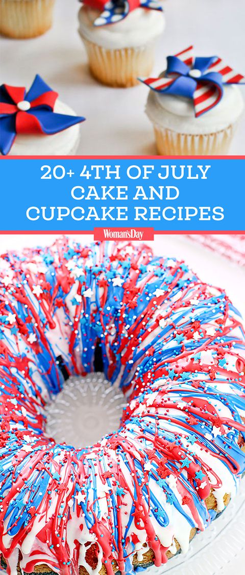 4ο of july cakes and cupcakes