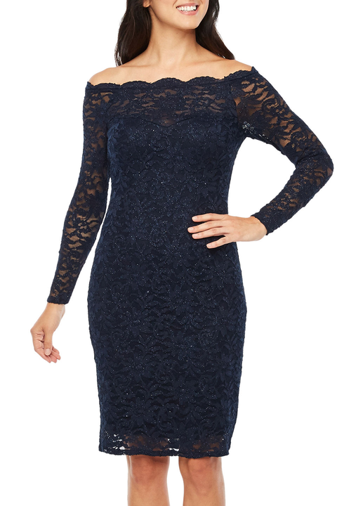 μακρύς sleeve lace dress