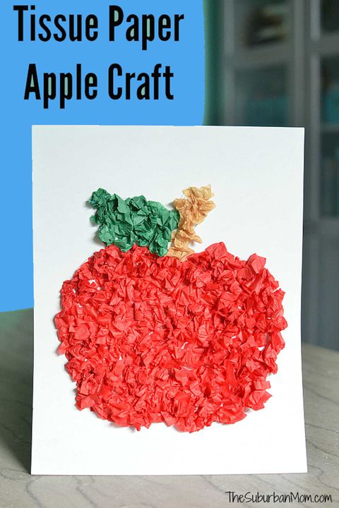leđa to school activity tissue paper apple
