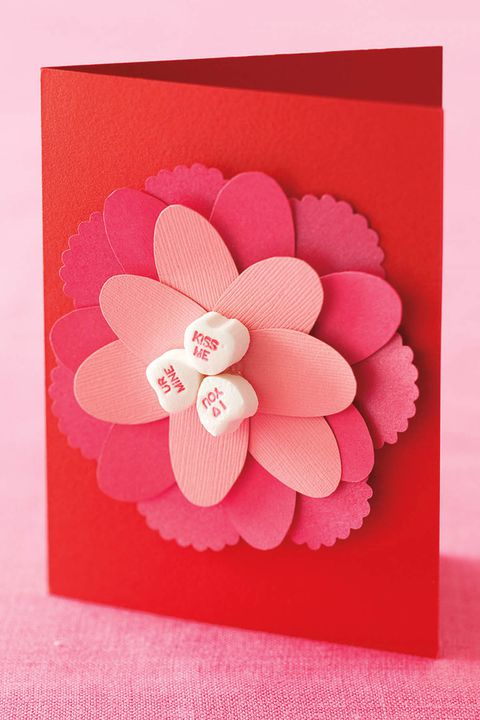 cut-papir flower card